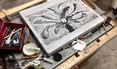El grabador tlaxcalteca Enrique Pérez se inspira en la naturaleza