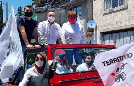 Arranca campaña Adrián Rubalcava con caravana en Cuajimalpa