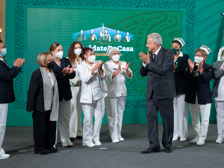 Presidente reconoce labor de enfermeras y enfermeros durante pandemia de COVID-19