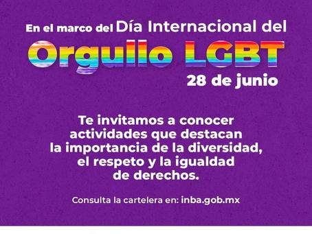 Anuncian actividades del INBAL en el marco del Día Internacional del Orgullo LGBT