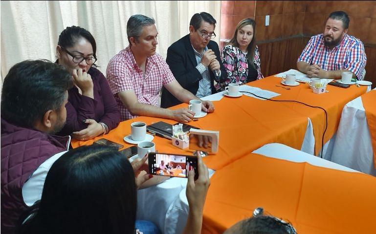Diputados de Morena en conferencia de prensa