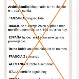 Es falso que los países de una lista viral cerraran sus fronteras por una nueva ola de covid-19