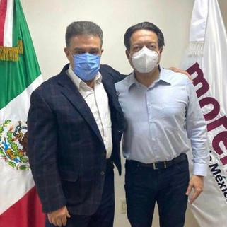 Dirigente nacional de Morena se reúne con Carlos Lomelí, aspirante a candidatura por GDL