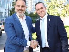 Adrián Rubalcava se reúne con el alcalde de Porto Alegre, Brasil