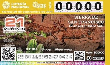 Presenta Lotenal billete conmemorativo de la Zona Arqueológica Sierra de San Francisco de BCS