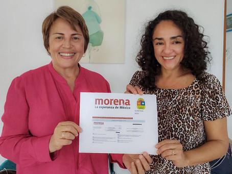 Laura Beristain se registra al proceso interno de Morena para buscar reelección en Solidaridad