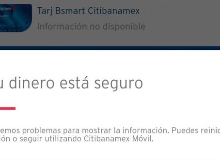 Usuarios reportan fallas en app de Citibanamex
