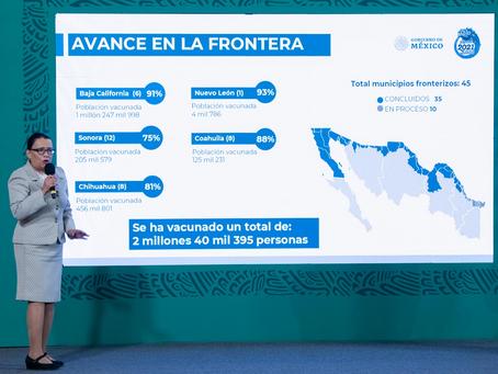 Fortalecen vacunación en Tamaulipas y Puebla; para octubre, todos los adultos vacunados: AMLO