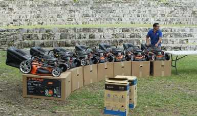 Reciben en Centro INAH Quintana Roo maquinaria para el mantenimiento de zonas arqueológicas