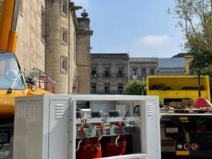 Con sustitución de transformador eléctrico, avanzan trabajos de protección de Catedral Metropolitana