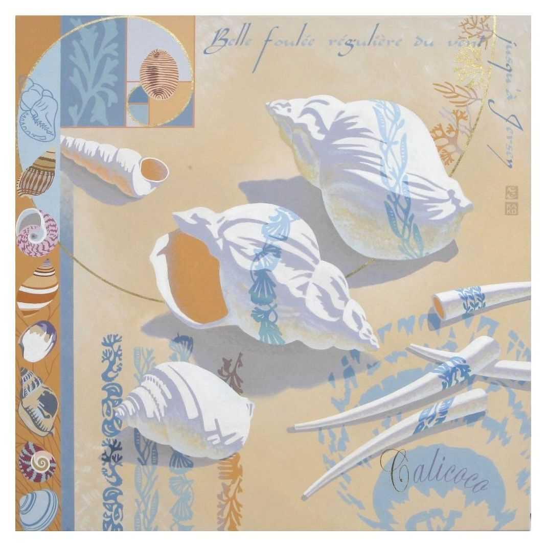 1-CALICOCO-acrylique sur toile 1m x1m