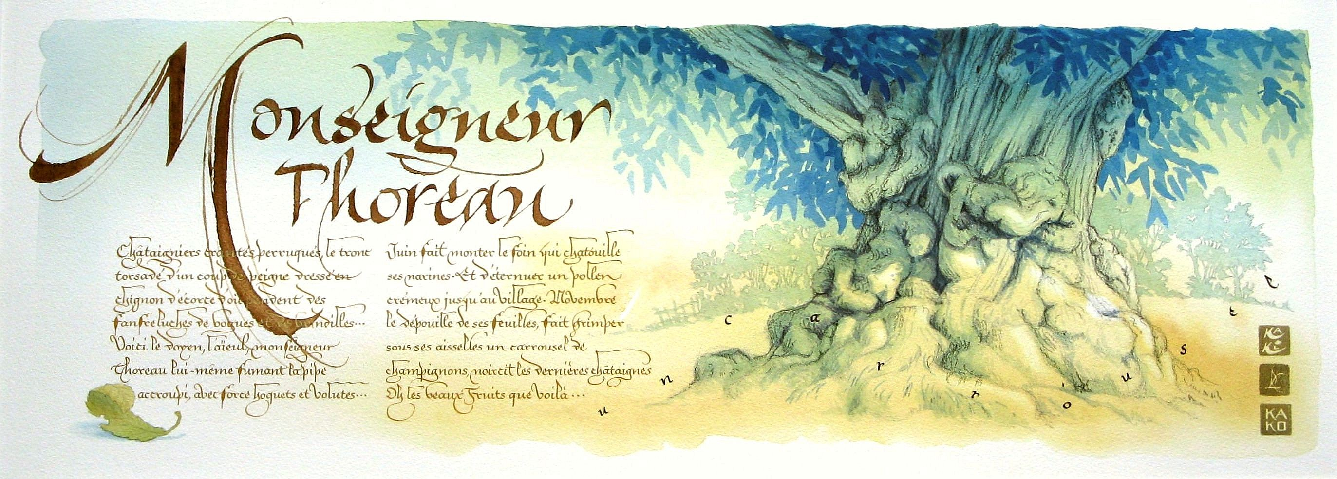 MONSEIGNEUR THOREAU calligraphie R.Lempereur