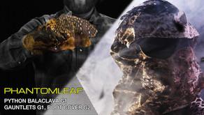 DIE PHANTOMLEAF STORY - TEIL7: PYTHON BALACLAVA | GAUNTLETS | LEAVES | BOOT COVER