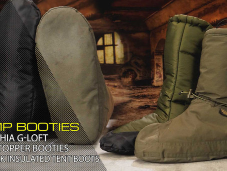 CARINTHIA G-LOFT WINDSTOPPER BOOTIES & SNUGPAK INSULATED TENT BOOTS