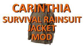 CARINTHIA SURVIVAL RAINSUIT JACKET MOD