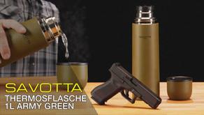SAVOTTA THERMOSKANNE 1 L ARMY GREEN