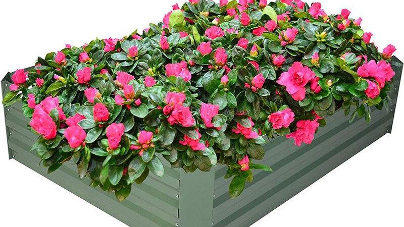 Raised Garden Bed Galvanized Planter Box