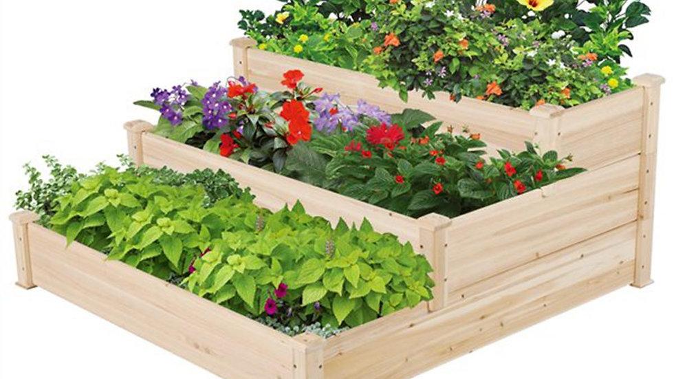 3 Layer Stair Shape Vegetable Raised Garden Bed
