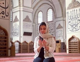 من داخل مسجد آيا صوفا