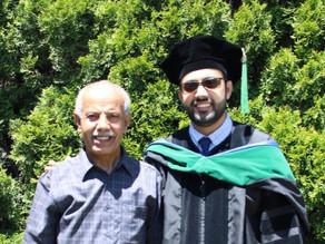 الدكتور فارس محمد ناصر سيلان يحتفل بتخرجه من كلية الطب
