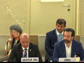 الشيخ صالح بن شاجع يخاطب مجلس حقوق الإنسان التابع للأمم المتحدة