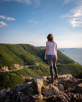 Cabot Trail Hiking Skyline Trail Sunny Day Great View