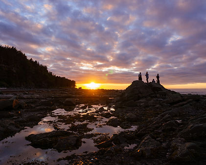 Gaspesie Sunset St Lawrence River Clouds and Tides Outdoor Advenure