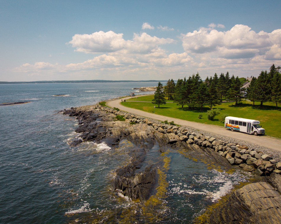 Nova Scotia Landscape View with Tour Vehicle Canada
