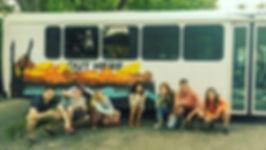 Canada Tour Bus Road Trip Group Photo Adventure