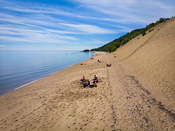 Bus Tour Canada Beach Sand Dunes Tadoussac Canada