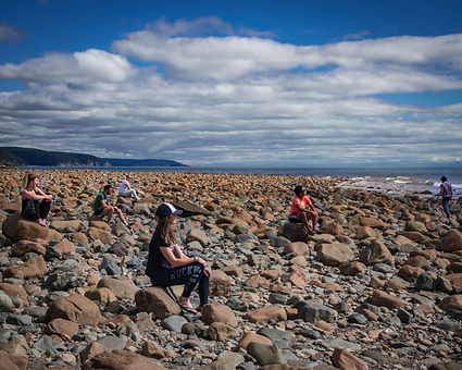 Long Beach Fundy Trail View Hiking Bay of Fundy Canada Adventure Tour