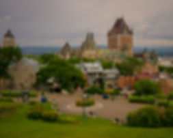 Quebec City Viewpoint during Canada Road Trip Chateau Frontenac Famous Hotel