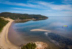 Scenic View at Tadoussac Sand Dune Beach Adventure Tour Quebec Canada