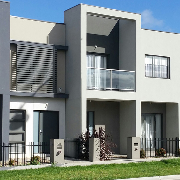 Block of Modern Urban Homes 2 stor