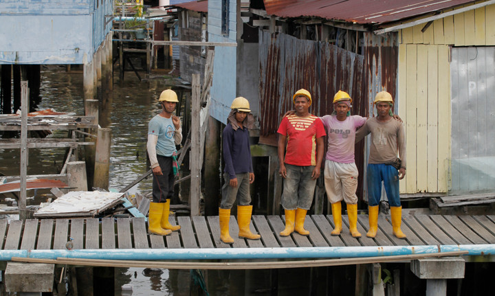 Indian migrant construction workers in Brunei