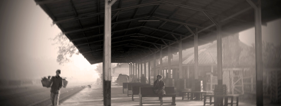 The train station at Katha, where George Orwell's 'Burmese Days' was set