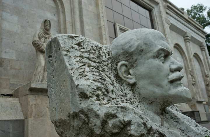 Lenin and a medieval monk in Armenia