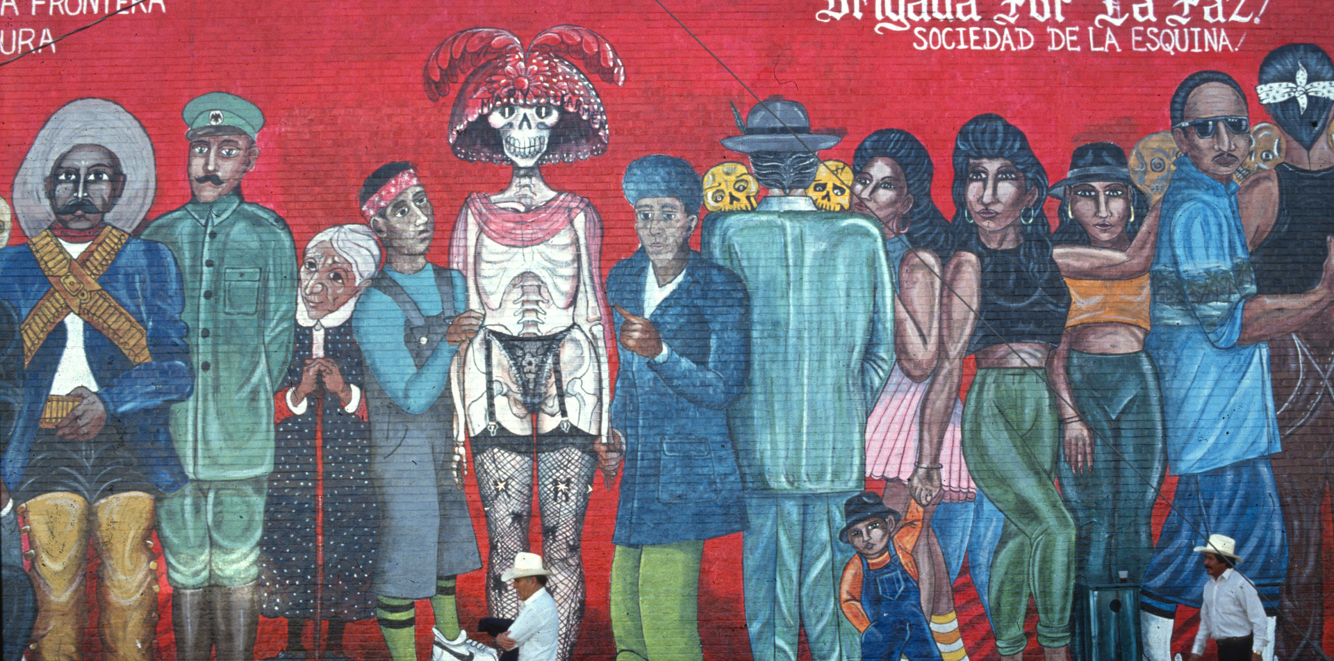 Mural by grassroot art collective in Ciudad Juarez, Mexico