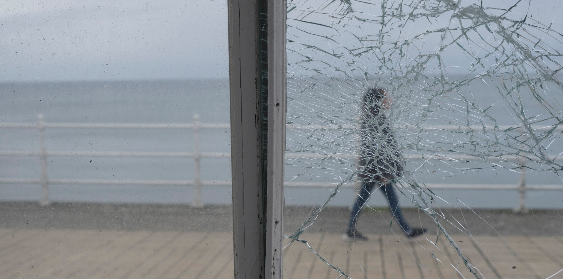 Walking in self-isolation by the seaside