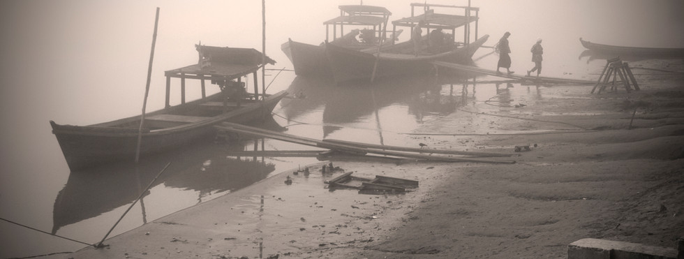 Passenger boat on the Irrawaddy river at Katha, where George Orwell's 'Burmese Days' was set
