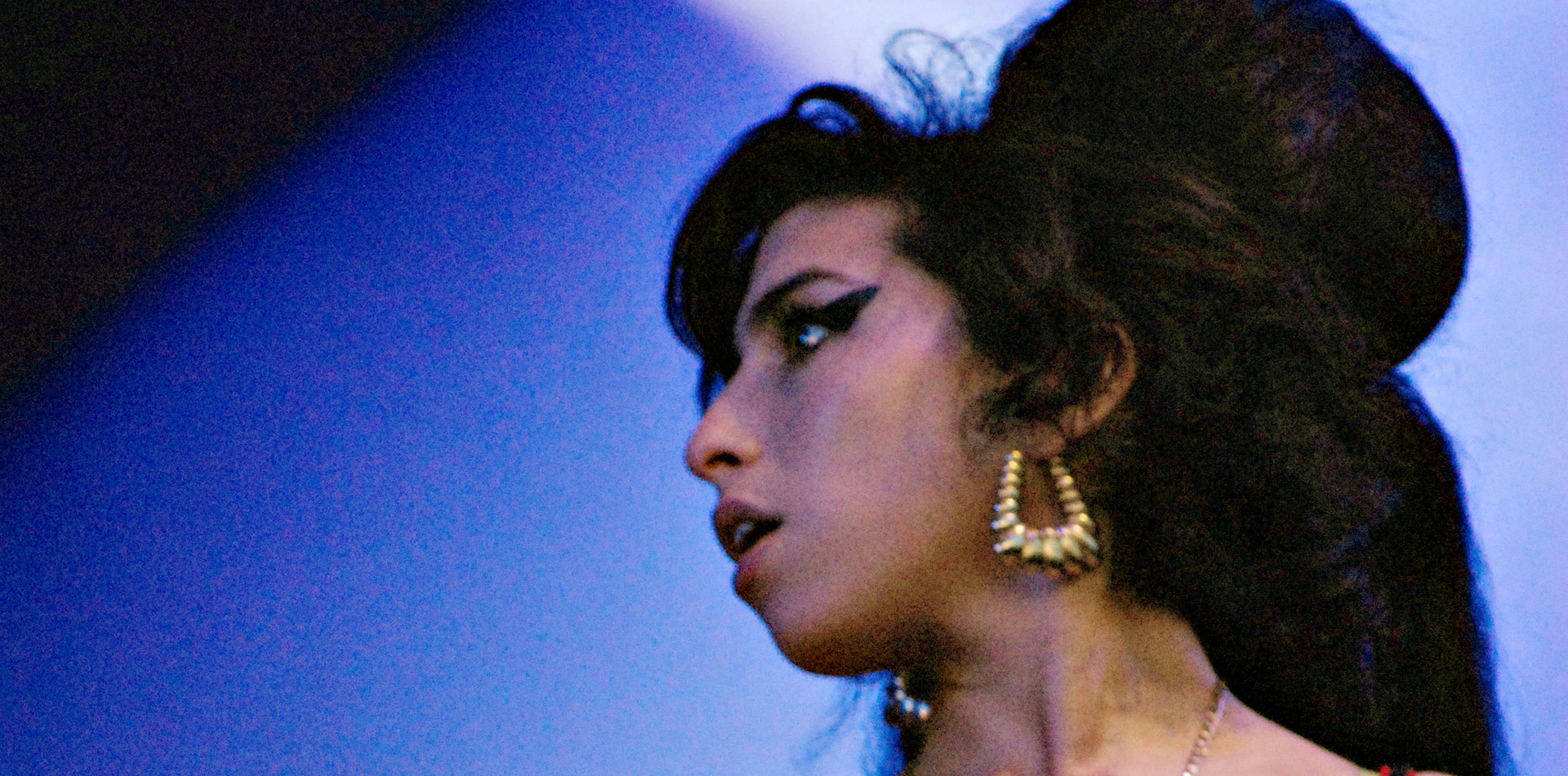 The late Amy Winehouse at Glastonbury Festival