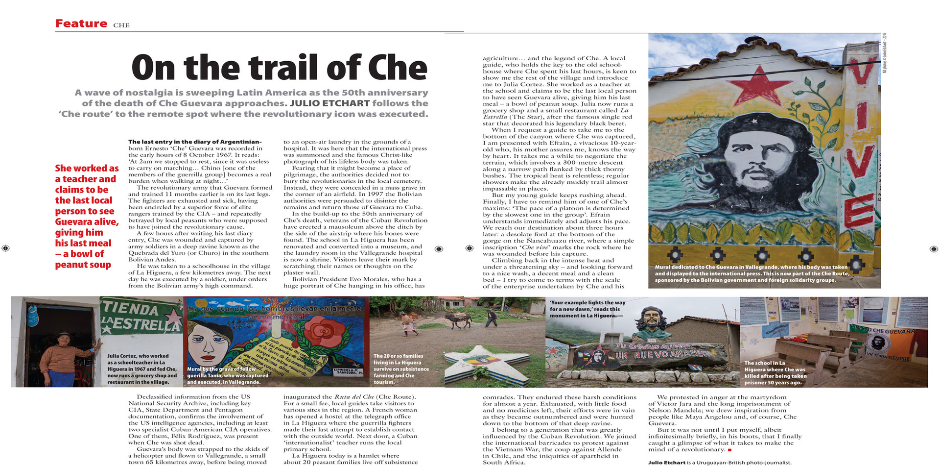 Travelogue on the trail of Che Guevara in Bolivia, for the New Internationalist magazine