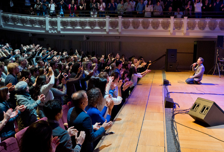 Oscar-winner Uruguayan musician Jorge Drexler performing live at the Cadogan Hall in London