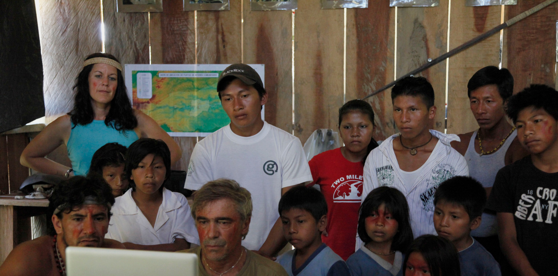 Workshop with first nation Huaorani youth