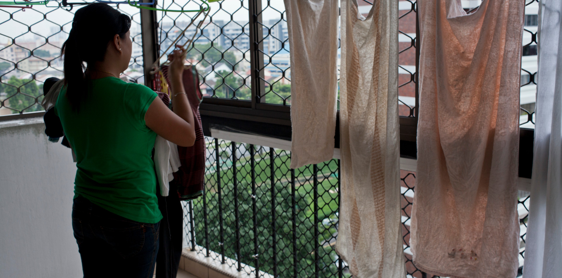 Migrant domestic worker fom Philippines working in Singapore