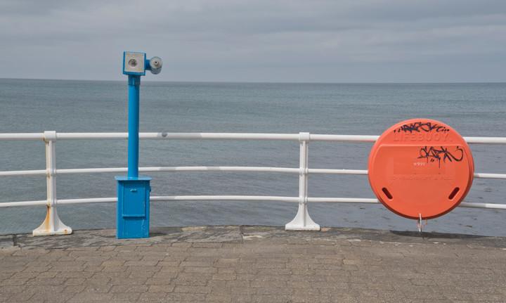 Seaside promenade in Aberystwyth during an isolation walk