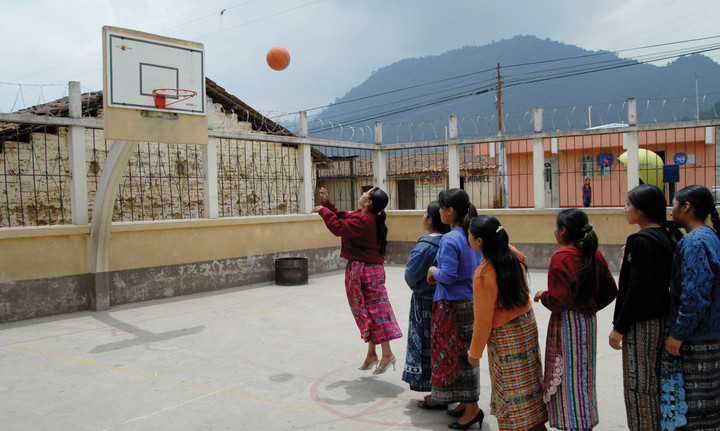 First Nation Quiche Maya migrant domestic workers relax at an NGO safe space in Guatemala City