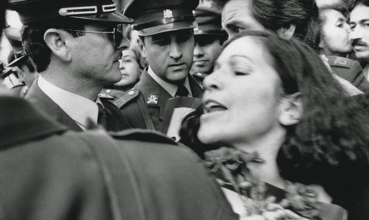 Relative of political prisoner protesting during Pinochet rule in Chile