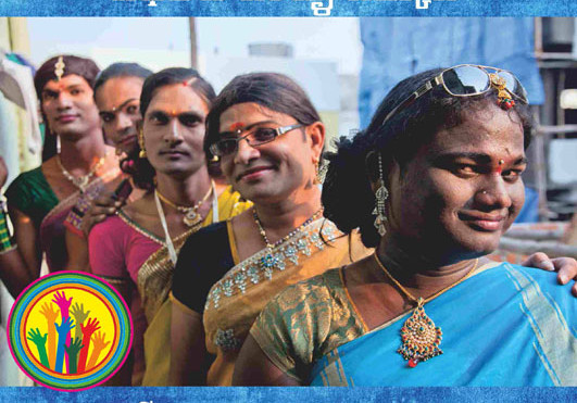Poster for transgenders' rights campaign in Andra Pradesh, India