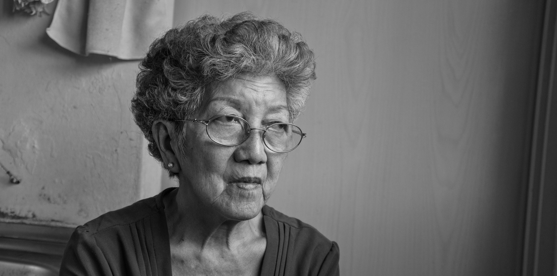 Senior woman in sheltered accommodation in Singapore